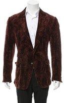 Dolce & Gabbana Velvet Patterned Blazer
