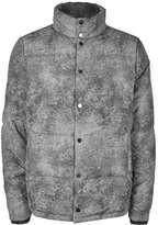 Topman LTD Grey Marble Effect Puffer Jacket
