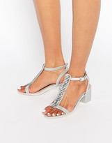 Asos HOTEL Embellished Heeled Sandals
