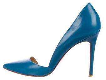 Christian Louboutin Leather Half-d'Orsay Pumps