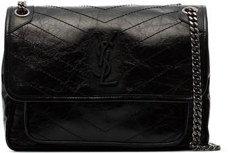 Saint Laurent medium Niki crinkle-effect shoulder bag