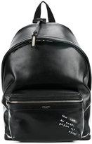 Saint Laurent 'Angel' City backpack - men - Calf Leather/Nylon - One Size