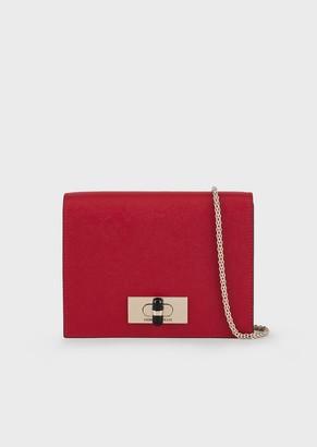 Giorgio Armani Mini Shoulder Bag In Leather