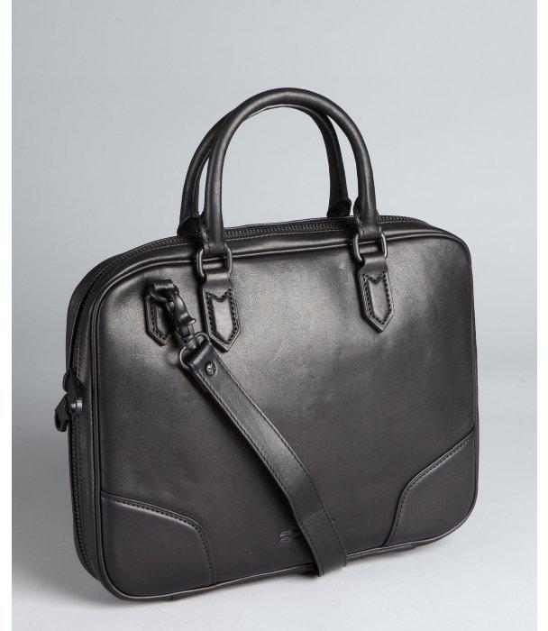Ben Minkoff black leather 'Jordy' computer tote bag