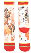 Stance 'Dominique Wilkins - Nique' Watercolor Print Socks