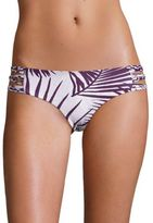 Mikoh Swimwear Velzyland Palm Leaf Print Bikini Bottom