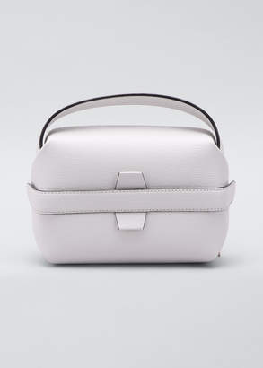 Valextra Pebbled Leather Top Handle Box Bag
