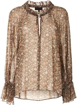 Nili Lotan Floral Print Silk Blouse