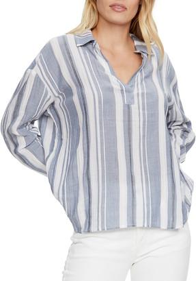 Michael Stars Savannah Striped Popover Shirt
