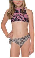 O'Neill Girls' Luna High Neck Halter Swim Set - Big Kids - Mesa Rose Bathing Suits