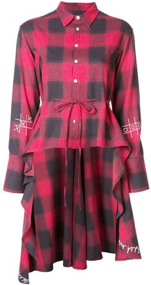 Haculla plaid asymmetric shirt