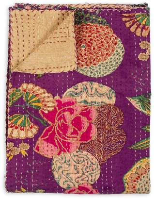 +Hotel by K-bros&Co Taj Hotel Kantha Quilted Floral Throw