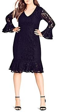 City Chic Plus City Chic Desire Lace Dress