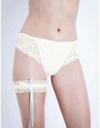 Simone Perele Women's Cream Wish Tulle Wedding Garter