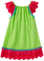 Masala Baby Flutter Eyelet Dress (Toddler & Big Girls)