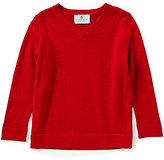 Class Club Little Boys 2T-7 Solid V-Neck Sweater