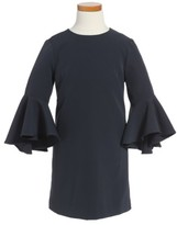 Milly Minis Girl's Nicola Bell Sleeve Cady Dress