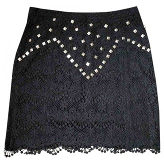 Dress Gallery Black Cotton Skirt for Women