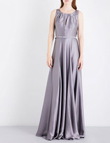 Max Mara Elegante Osol hammered-silk gown
