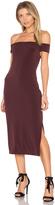 Velvet by Graham & Spencer Francella Off Shoulder Midi Dress