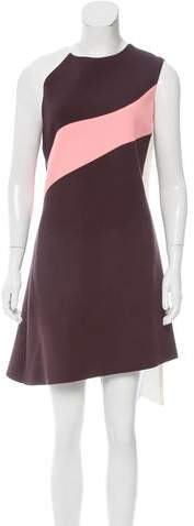 Christian Dior Wool Colorblock Dress w/ Tags