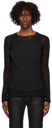 Ann Demeulemeester Black Layered Long Sleeve T-Shirt