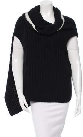 Ann Demeulemeester Open Knit Wool Poncho