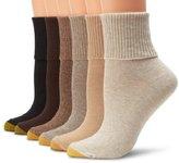 Gold Toe Women's Six-Pack Turn Cuff Socks