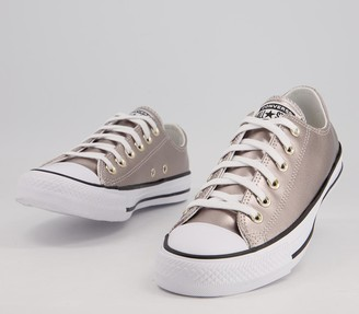 Converse Allstar Low Leather Trainers Light Gold Egret Exclusive