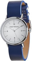 Tokyobay Tokyo Bay T394-GY Women's Stainless Steel Two-Tone Nylon Band White Dial Smart Watch