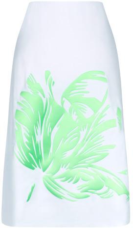 Jonathan Saunders Preorder Clark Parrot Tulip Skirt In White