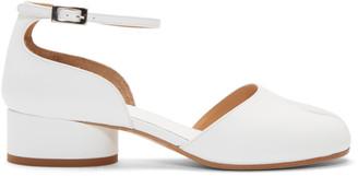 Maison Margiela White Tabi Ankle Strap Heels