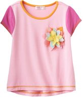 Design 365 Floral Rosette High-Low Top - Toddler Girl
