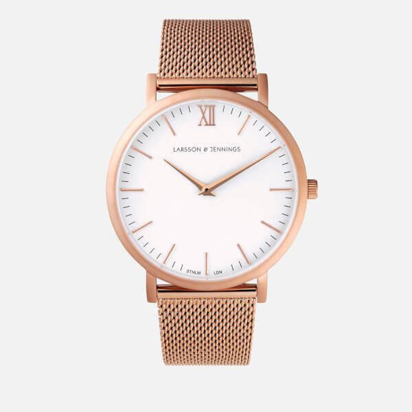 Larsson & Jennings Lugano 40mm Rose Gold Chain Metal Watch Rose Gold Metal