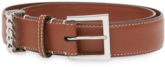 Burberry Chain Detail Leather Strap