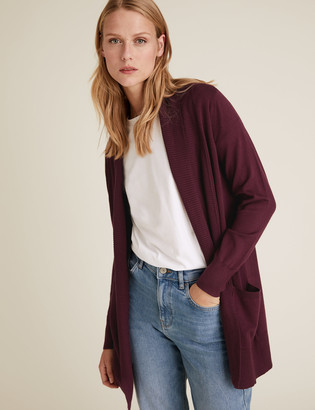 Marks and Spencer Folded Collar Longline Cardigan