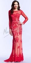 Mac Duggal Lace Long Sleeve Prom Dress