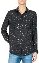 The Kooples Dame de Coeur Micro Heart-Print Shirt