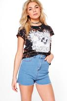 Boohoo Ashleigh Super High Waist Mom Shorts