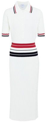 Thom Browne Cotton-blend midi dress