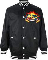 Kokon To Zai embroidered patch bomber jacket