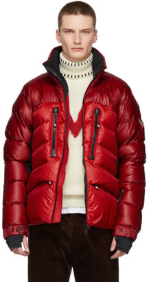 MONCLER GRENOBLE Red Down Braies Jacket
