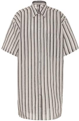 Acne Studios Striped cotton-blend shirt