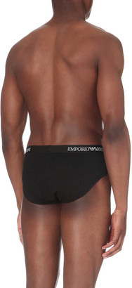Emporio Armani Pack of two slim-fit stretch-cotton briefs