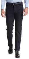 Ermenegildo Zegna Luxe Denim Straight-Leg Jeans, Navy Solid