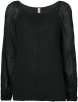 Raquel Allegra long-sleeve raglan blouse