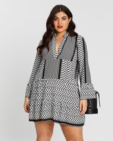 boohoo Plus Tribal Print Smock Dress