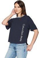Calvin Klein Jeans Women's Short Sleeve Sport Stripe Boy Fit T-Shirt