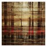 Parvez Taj Sunlight Thru the Trunks 24-Inch Square Pine Wood Wall Art