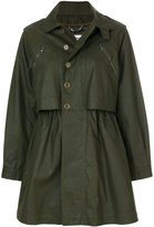 Moschino sheen parka coat